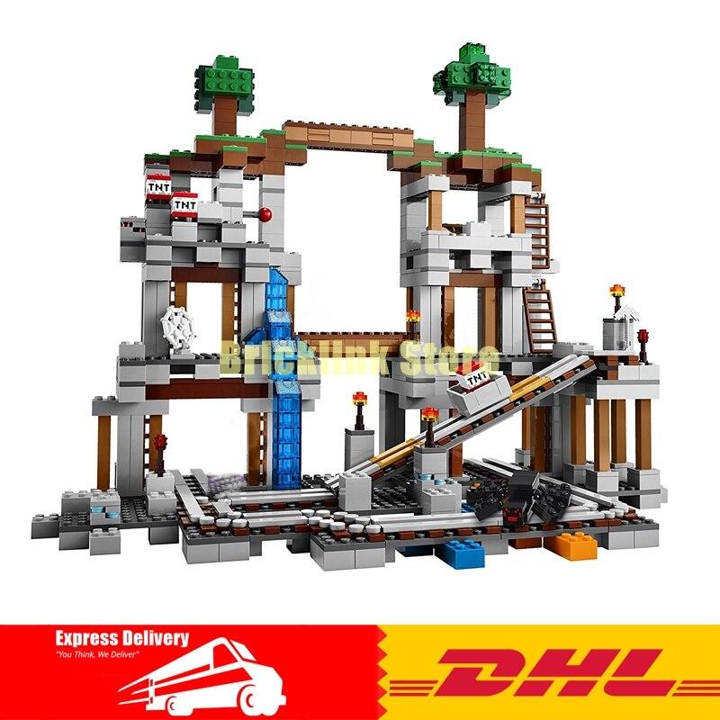 Lepin 18011 922pcs My World Mine Pixel Mc Building Blocks Compatible 21118 Brick Toy lepin minecraft 922 stucke der mine my world figur kinder educational building blocks bricks spielzeug fur kinder geschenk