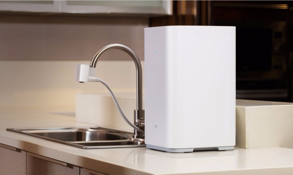 xiaomi countertop reverse osmosis water filter with 4 stages of filtration support wifi - Countertop Water Filter