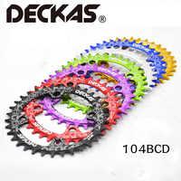 Deckas 104BCD Oval Engen Breite Kettenblatt MTB mountainbike fahrrad 32T 34T 36T 38T kurbel Einzigen zahn platte Teile 104 BCD