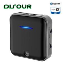 B19 2 ב 1 5.0 Bluetooth משדר מקלט CSR8675 Aptx HD מתאם 3.5mm הדיגיטלי אופטי Toslink עבור רכב משדר טלוויזיה