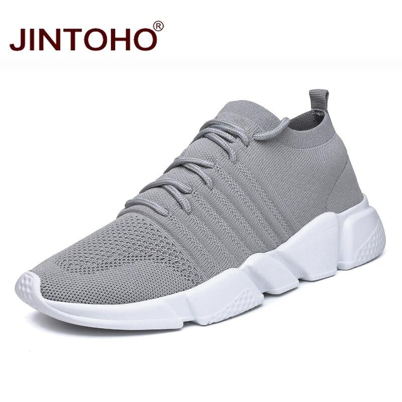 JINTOHO Big Size Men Casual Shoes Fashion Male Casual Shoes Breathable Men Sneakers Adult Male Comfortable Shoes Chaussure Сникеры