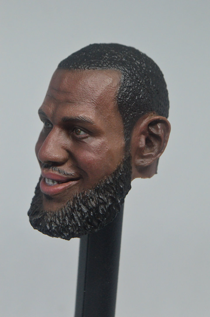 1//6 Soldier NBA James Harden Black Head Carving Fit 12/'/' Body Action Figure Toys