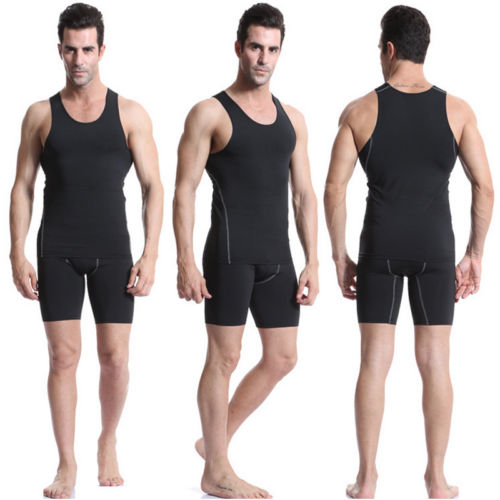 2018 New Summer Running Vests Tank Mens Sportwear Under Compression Armour Baselayer Sleeveless Slim Exercise Athletic Top S-3XL