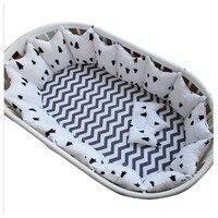 Новорожденных Термальность Мягкий хлопок флис детские кроватки активности бампер набор ограждение для детского манежа мягкие теплая шерс