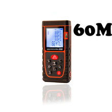 Big discount 60M Digital Laser Meter Roulette Bubble Level Rangefinder Range Finder Tape Measure Area/Volume Rangerfinder