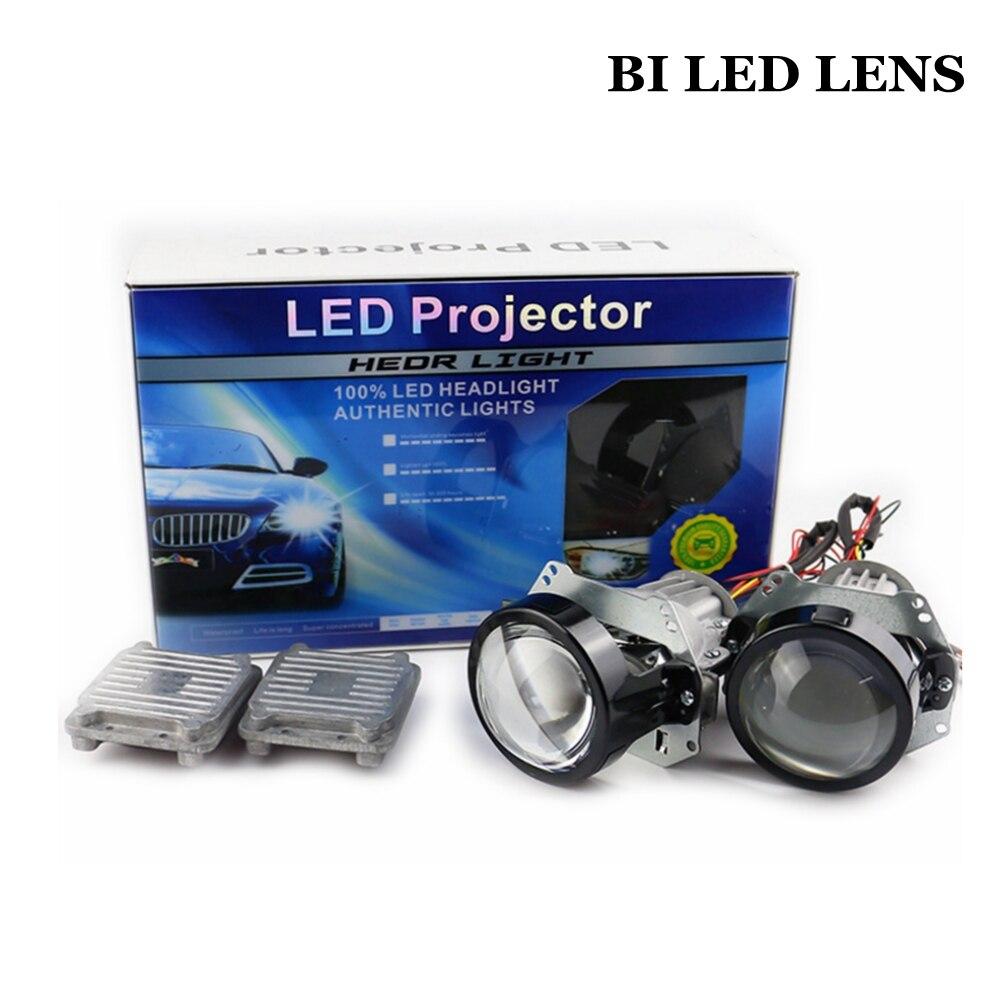 35 w 3.0 pouces BI LED projecteur lentille de voiture rénovation modifier universel LED Phare Haut de Croisement hid xenon lens