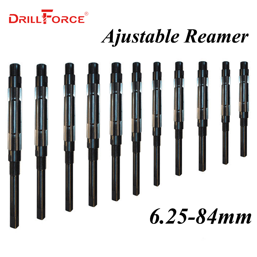 1PC 6.25-84mm Adjustable Hand Reamer HSS Size Range Cutting Tools 6 8 10 12 15 20 25 30 35 40 45 50 55 60 65 70 75 80 84mm
