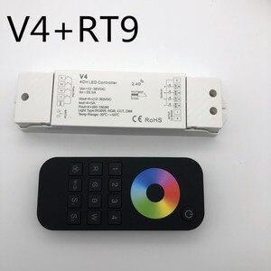 Image 4 - Rgbw/rgb/cct/디밍 + 2.4 ghz 무선 rf 원격 컨트롤러 4 채널 led rf 컨트롤러 rgb/rgbw led 스트립 빛 rgb + cct v5
