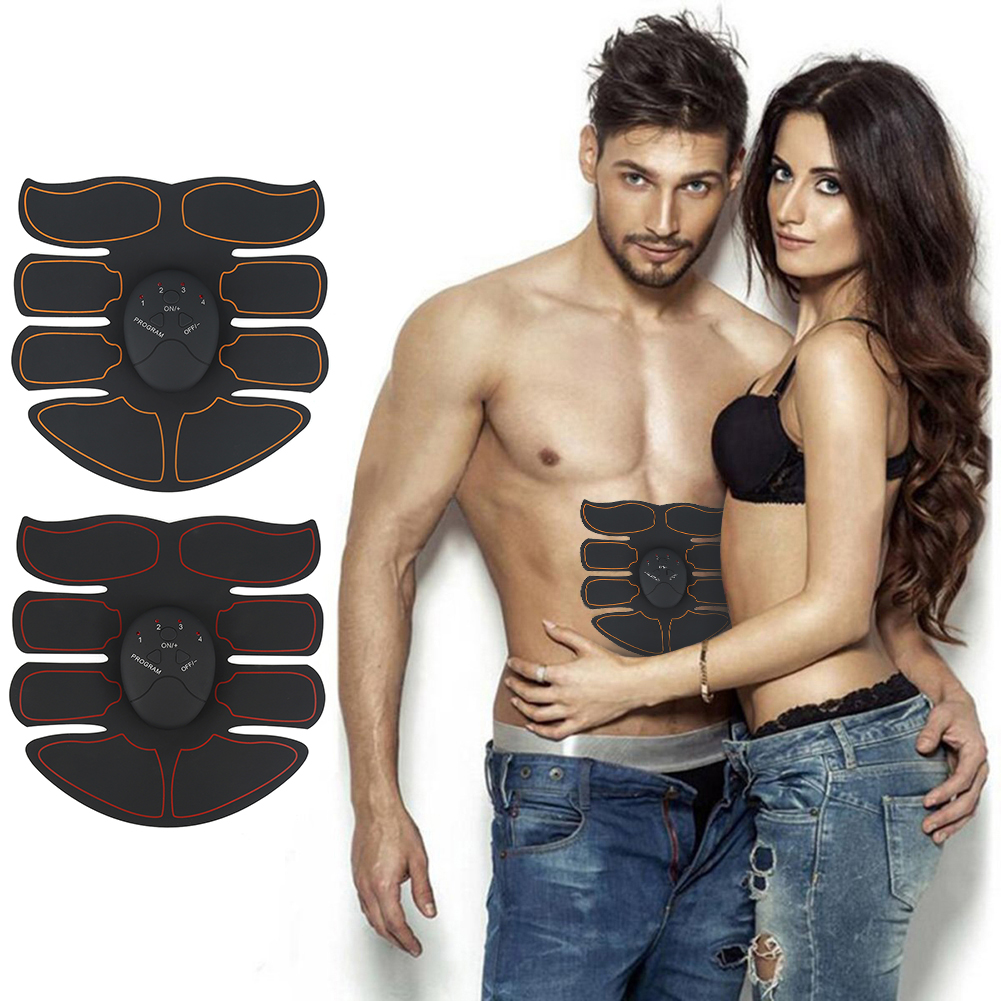 1 Set Unisex Healthy Ultimate Ultra Thin ABS Stimulator Abdominal Muscle Exerciser Durable Sticker Pad Fitness weight loss Tool