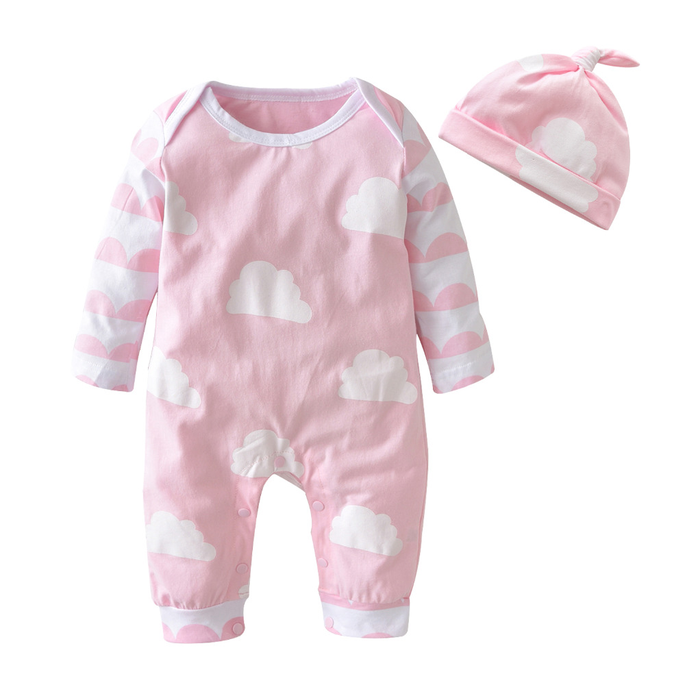 2018 Autumn Style Baby Girl Clothes Cartoon Pink Cute