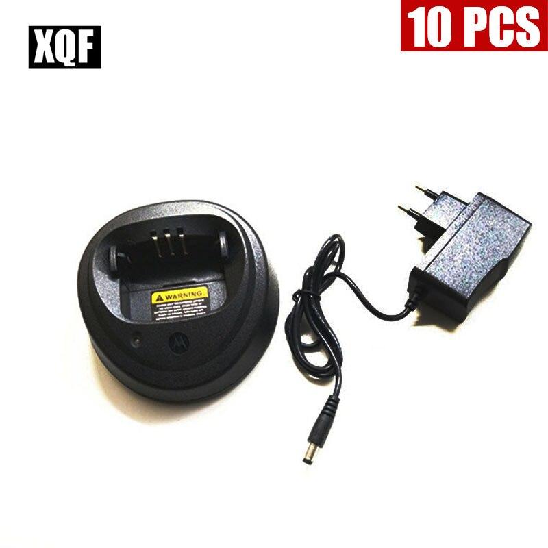 XQF 10PCS  Radio Battery Charger For Motorola GP3688/3188 CP040/150 EP450 CP380 Radio