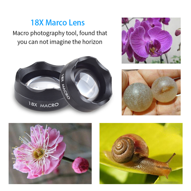 APEXEL Universal Clip on HD 18X Macro Lens Photography Mobile Phone Lens micro lentes For iPhone Lens mobile phone 3