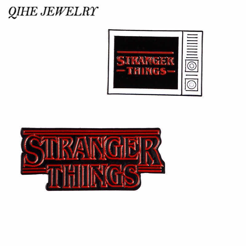 QIHE JEWELRY Stranger Things TV Eleven Pin Badges Lapel pin Brooches for women men Backpack Tote Bag Accessories