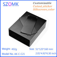 1 pc, 51*125*160mm hot sales black distribution enclosure switch box szomk aluminum box for electronic project control box(China)