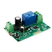 Smart wifi controle remoto diy módulo universal dc5v 12 v 32 v temporizador de interruptor wi fi de travamento automático para casa inteligente|Módulos de automação residencial|   -