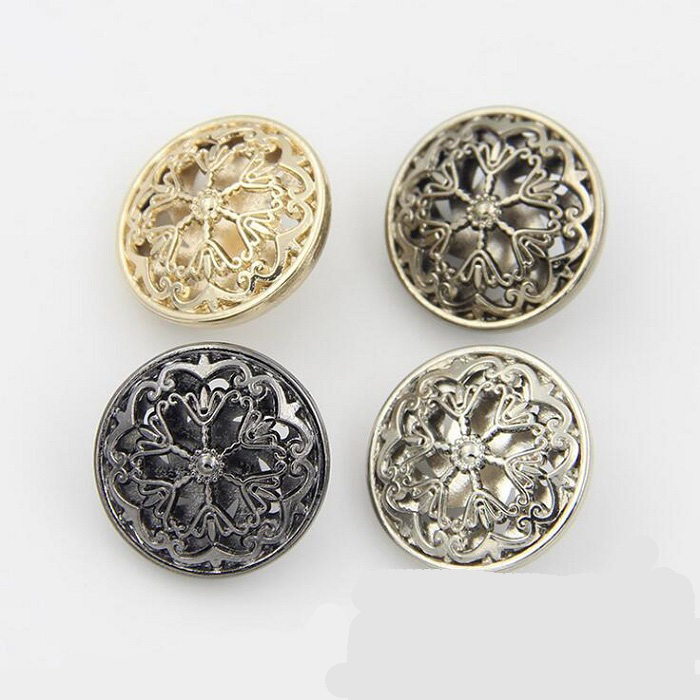 Buttons 18/20/22/25mm metal flower design for sweater coat shirt jacket handmade Gift Box Craft DIY Sewing accessories