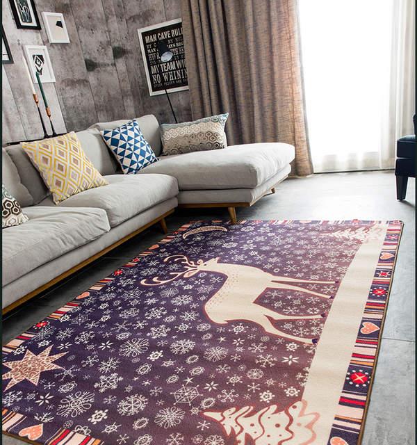 Nordique Simple Salon Table Basse Canape Carpet Chambre Hall D