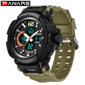 PANARS Digital Sport Watch Men LED Waterproof Watch Alarm Mens Watches Top Brand Luxury Clock Wristwatch Mens Fashion Watches