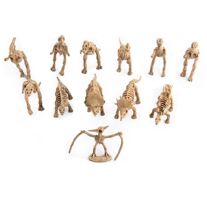 12Pc/Set Jurassic Park Dinosaur Bone Specimen Action Figure Model Toy Movie Jurassic Park Dinosaur Fossil DIY Display Toy Gift