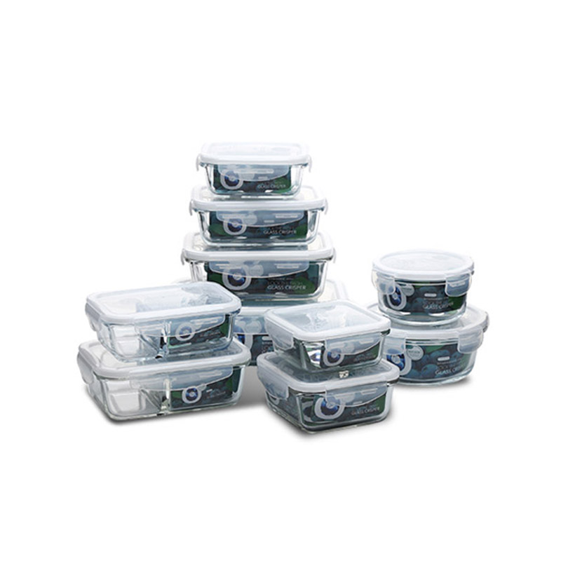 Glass Meal Prep Food Storage font b Lunch b font Box with BPA Free Airtight Snap