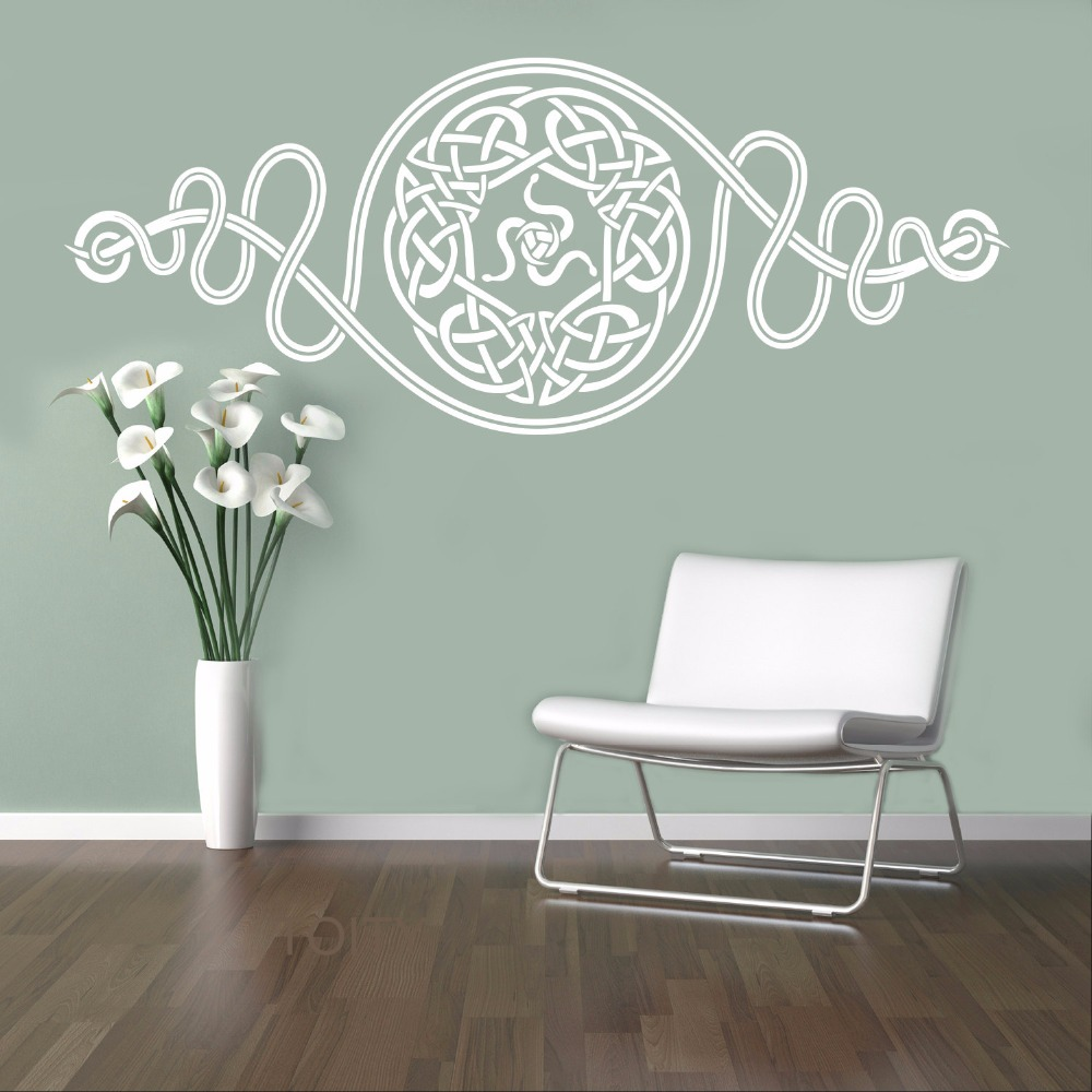 Celts Pattern Wall Sticker European Retro Ornament Vinyl Decal Home Interior Bedroom Decor Scandinavian Design Mural