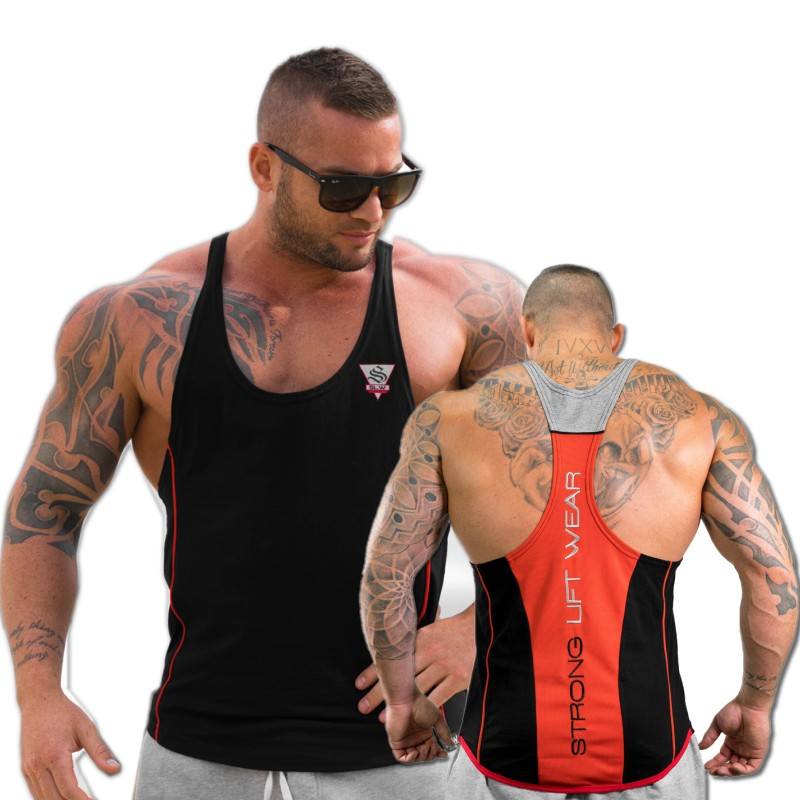 2018 summer Brand clothing Mens Tank Tops Stringer Bodybuilding Fitness absorb sweat breathe freely Men Tanks Clothes Singlets