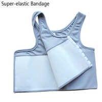 Les Sport soutien-gorge haut poitrine liant Super-élastique Bandage renforcer le corps sculpter haut Sport Bras poitrine gilet maillot de bain Gym course