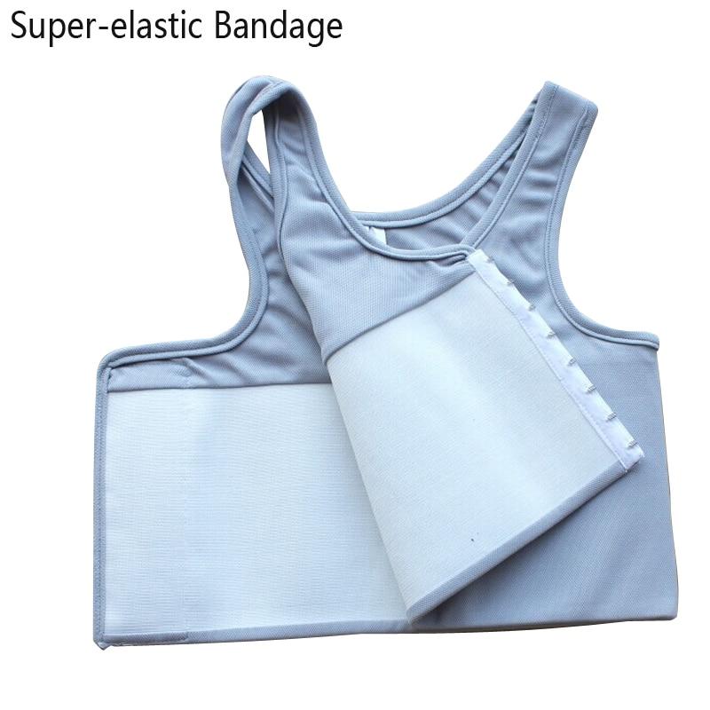 Les Sport Bra Top Chest Binder Super elastic Bandage Strengthen Body Sculpting Top Sport Bras Chest Vest Undershirt Gym Running Sports Bras     - title=