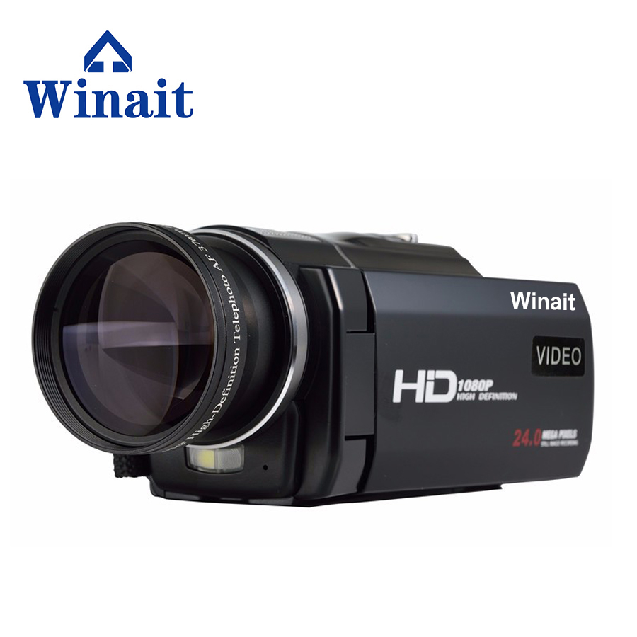 WinaitMini Touch Screen LCD Full HD Video Camcorder 5MP CMOS sensor, Max 24MP Photo Digital Video Camera With Remote Controller