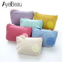 Small Canvas Mini Purse Beauty Vanity For Toiletry Kit Travel Cosmetic Makeup Make Up Bag Case Organizer Women Cute Pouch Female
