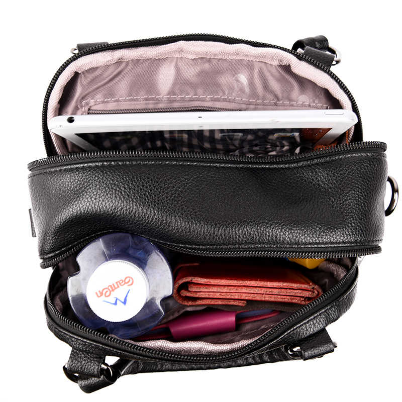 2019 маленькие многофункциональные рюкзаки для женщин, кожаный рюкзак для девочек, винтажный рюкзак с кисточками mochilas lady bagpack