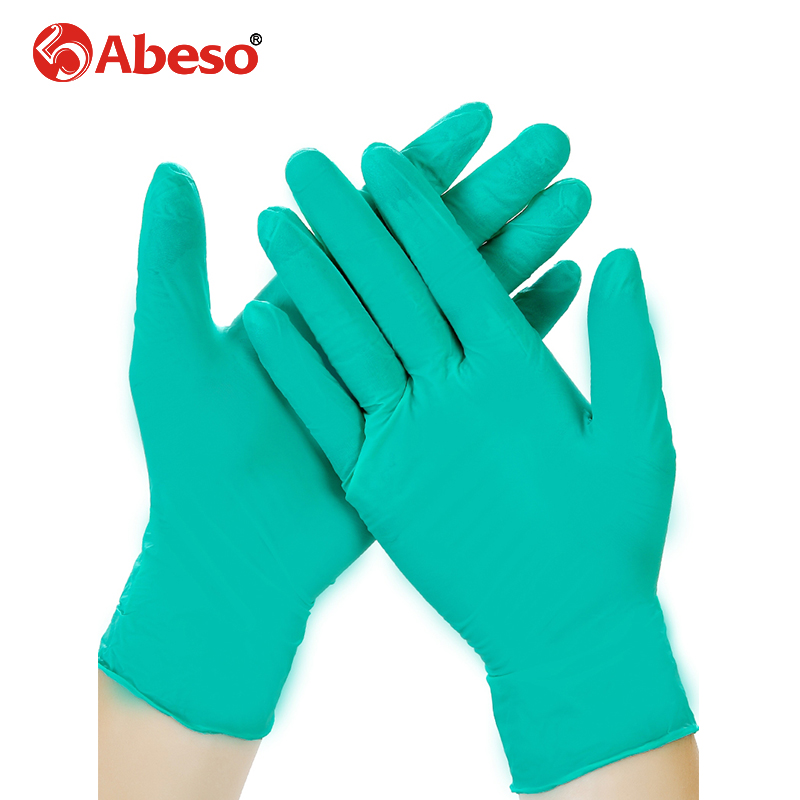 Abeso Disposable Nitrile Gloves Latex Rubber Plastic Experiment Labor Protection Food Green Thickening Plastic Latex ThinAbeso Disposable Nitrile Gloves Latex Rubber Plastic Experiment Labor Protection Food Green Thickening Plastic Latex Thin