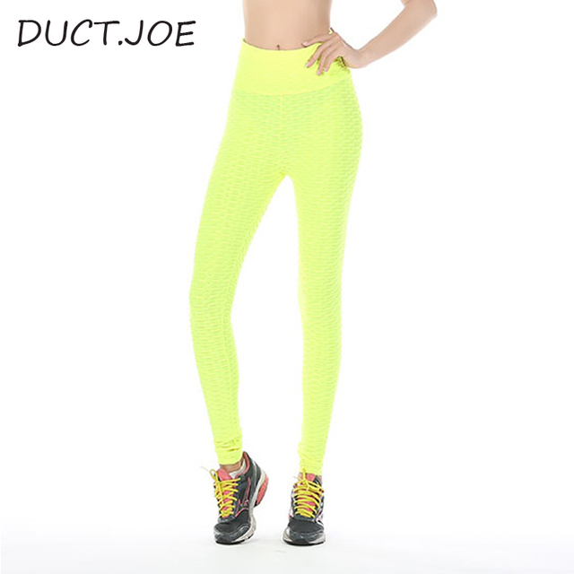 DUCTJOE Leggings For Fitness 3 Colors Breathable Lift the Hips Sweat absorption 2018 Casual High Waist Solid Leggings for women