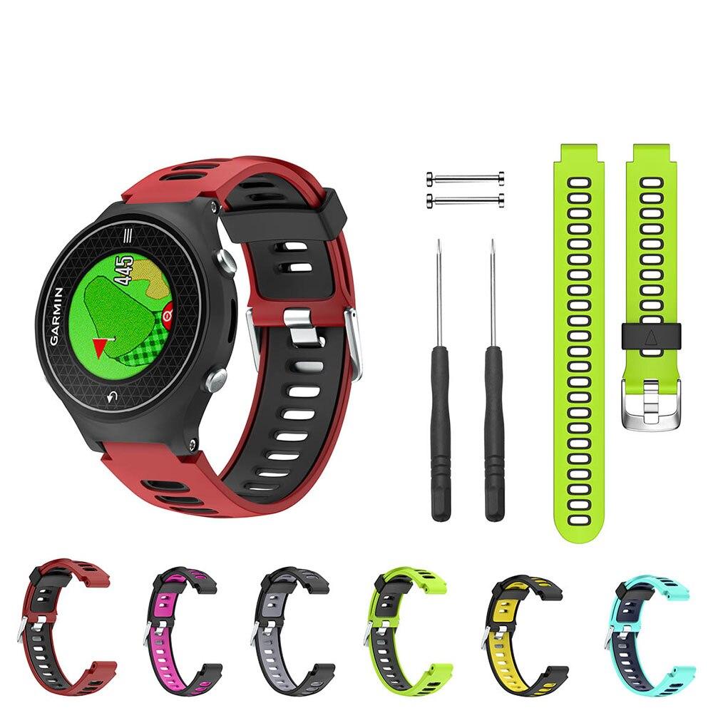Soft Silicone Watch Wrist Band Strap for Garmin Forerunner Approach S6 735XT 220 230 235 620 630 GPS Outdoor Sport Smart Watch