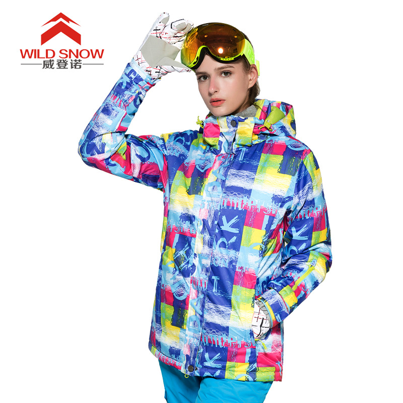 Women Ski Jacket Hot Sale High Quality Letters Print Ski Jackets New Arrival Women Ski Clothing Warm Skiing Snow Coat цена