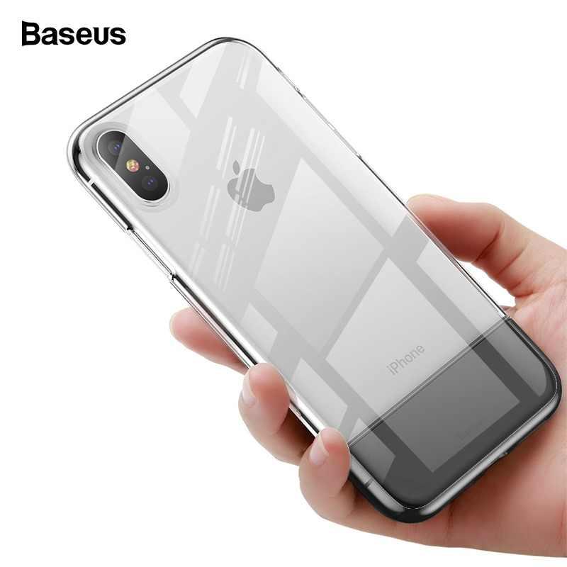e845cc9941 Baseus Transparent Case For iPhone Xs Max Xr X S R Xsmax Coque Soft TPU  Silicone Hard PC