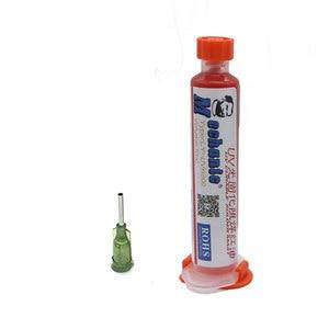 MECHANIC 10ML Red UV SOLDER MASK PCB BGA PAINT PREVENT CORROSIVE ARCING Soldering Paste Flux Cream Welding Fluxes Oil+needles