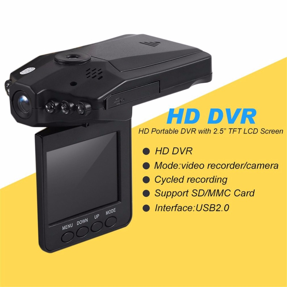 Drop Verschiffen Professionelle Volle HD Auto DVR Fahrzeug Kamera Video Recorder Dash Cam Infra-Red Night Vision