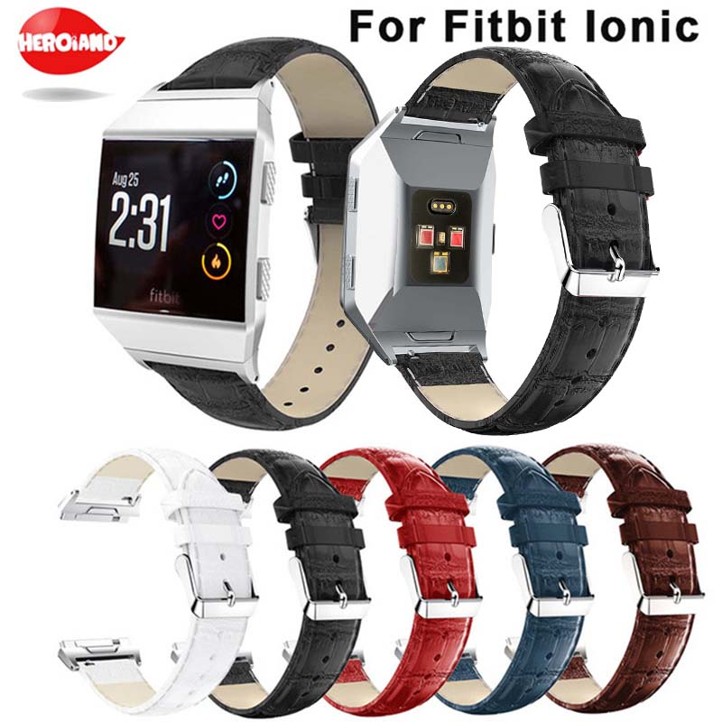Watchband Strap For Fitbit Ionic straps Perforated Genuine Leather watch Accessory Bracelet Drop shipping Bracelet Wristband2018