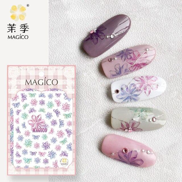 3D Nail Art Stickers Waterproof Nail Sticker Nail Sticker 3d Flowers ...
