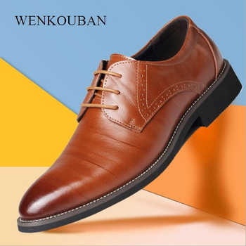 Summer Fashion Men Casual Shoes Classic Genuine Leather Flats Male Formal Oxford Dress Shoe Luxury Zapatos Hombre Plus Size 2020 - DISCOUNT ITEM  50 OFF Shoes