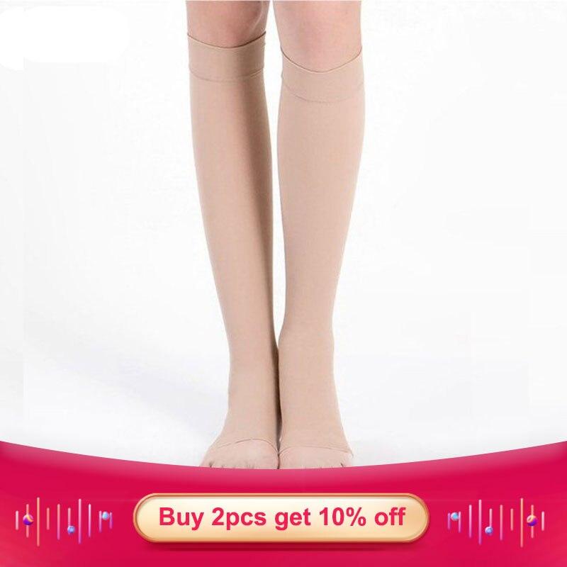Cofoe Knee High Compression Socks Medical Varicose Veins Socks 34-46mmHg Pressure Level 3 Open Toe for Men&WomenCofoe Knee High Compression Socks Medical Varicose Veins Socks 34-46mmHg Pressure Level 3 Open Toe for Men&Women