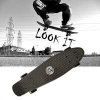 Original Peny Board Black Skateboard Mini Longboard Skate Fish Long Board Skate Wheel Plastic Cruiser Skateboard