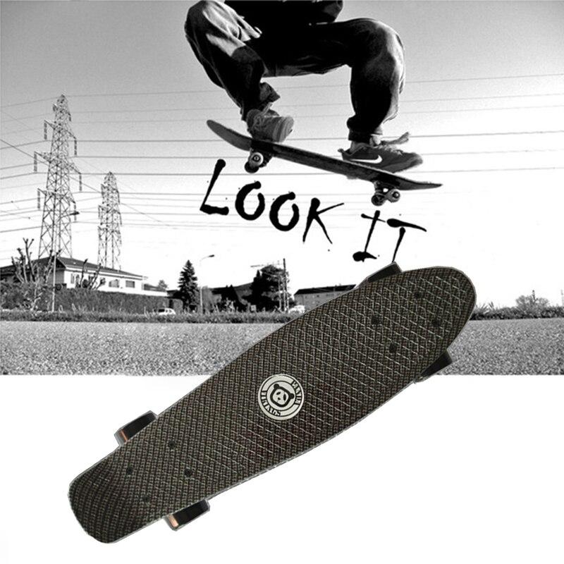 Original Peny Board Black Skateboard Mini Longboard Skate Fish Long Board Skate Wheel Plastic Cruiser Skateboard Pnny Board 22