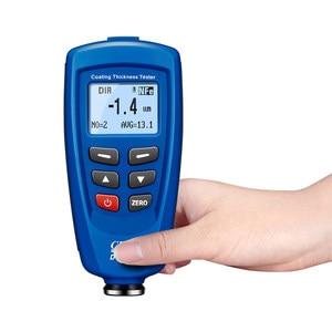 Цифровой измеритель толщины покрытия краски, измеритель толщины краски 0 ~ 1250um со встроенным Авто F & зонд nf + USB кабель + CD программное обеспечение