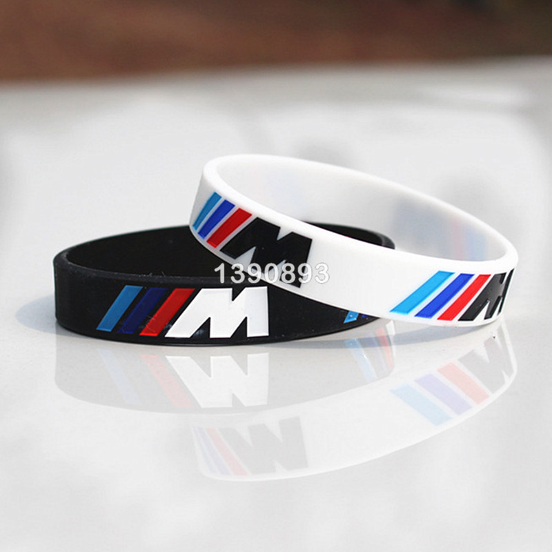 2pcs Logo Engrave Hologram Bracelets Sport M Power Black