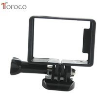 TOFOCO For Gopro Customary Protecting Body Mount Housing Tripods For GoPro HERO3+ three Sport Digicam Equipment Motion Digicam Black
