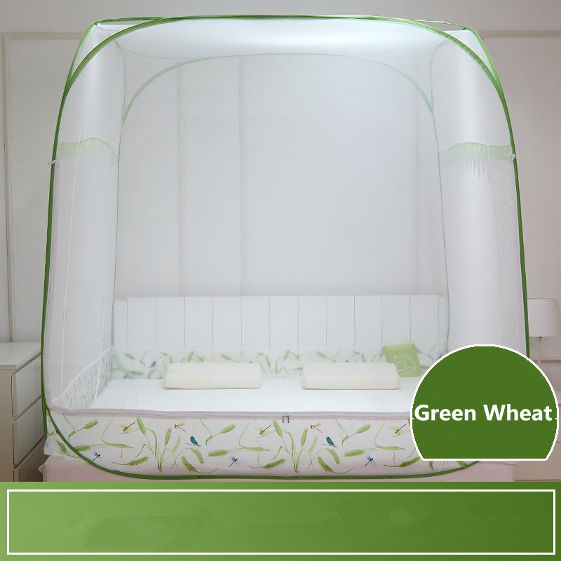 8 Colors Quadrate Mongolian Yurt Mosquito Net Large Space Bed Tent Anti Mosquito No Installation Mosquito Net Household Bedding-in Mosquito Net from Home & Garden    1