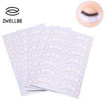 Zwellbe 70 пар/упак. бумажные пластыри 3D накладки для ресниц под глазами ресницы для наращивания ресниц тренировочные накладки для глаз стикеры косметические обертки инструменты