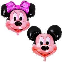 BINGTIAN 1PCS aluminum balloons Minnie Mickey head balloon Cartoon Birthday Party Wedding decorations children s toys